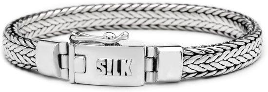 SILK Jewellery - Zilveren Armband - Alpha - 324.21 - Maat 21