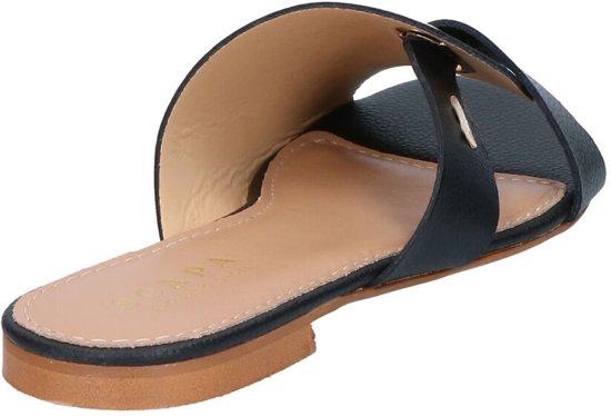 Zwarte Slippers Scapa Dames 38