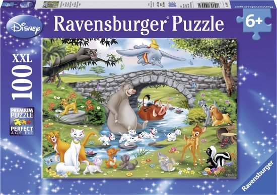 Ravensburger puzzel Disney Familie Animal Friends - Legpuzzel - 100 stukjes