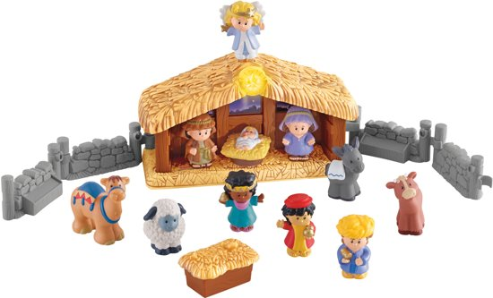 Fisher-Price Little People Kerststal Met Lichtgevende Engel