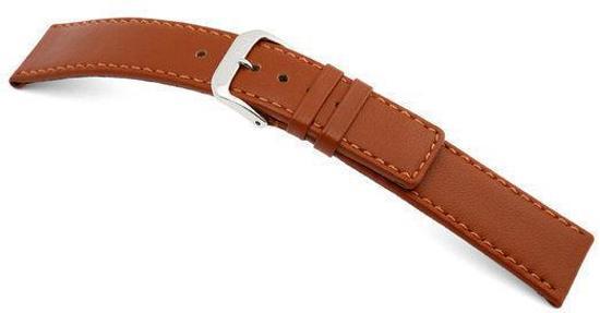 Rios1931 Horlogeband -  Cashmere Cognac  - Leer - 18 mm