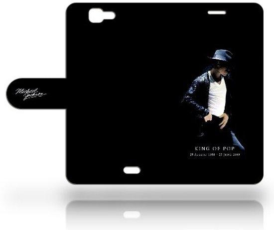 Huawei Ascend G7 Uniek Hoesje met Opbergvakjes Michael Jackson in Hintham