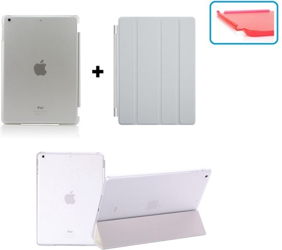 iPad 2, 3, 4 Smart Cover Hoes - inclusief achterkant – Wit