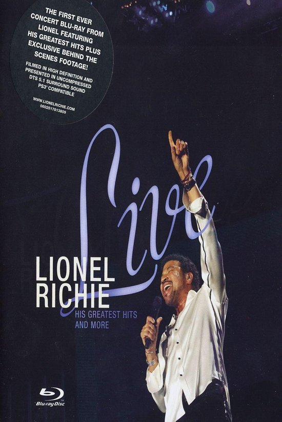 CD cover van Lionel Richie - Live: His Greatest Hits And More van Lionel Richie