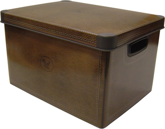 Curver Decobox Stockholm Opbergbox - L - Leather