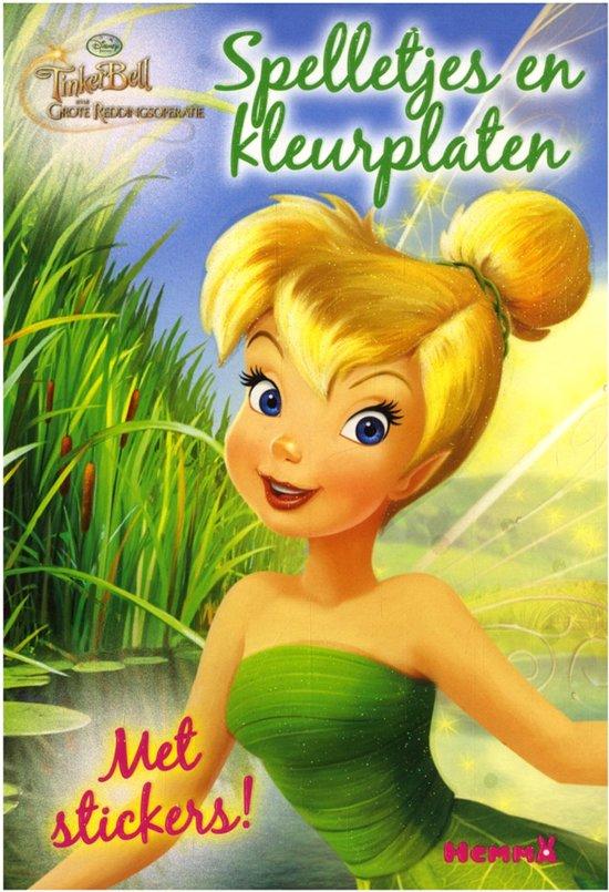 Kleurplaten Disney Fairies.Bol Com Disney Fairies Tinkelbel Kleur En Spelletjesblok Met