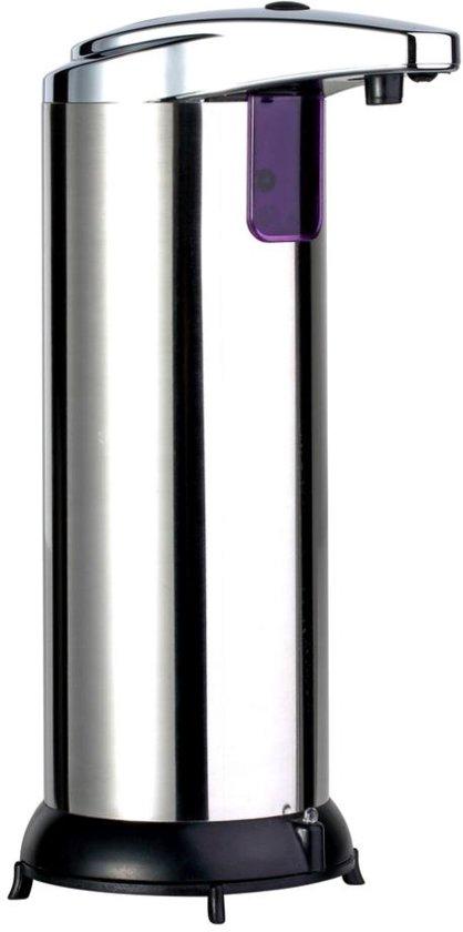Premium zeepdispenser automatisch staand elektrisch zeeppompje rvs met smart infraroo - Rvs plaat voor keuken ...
