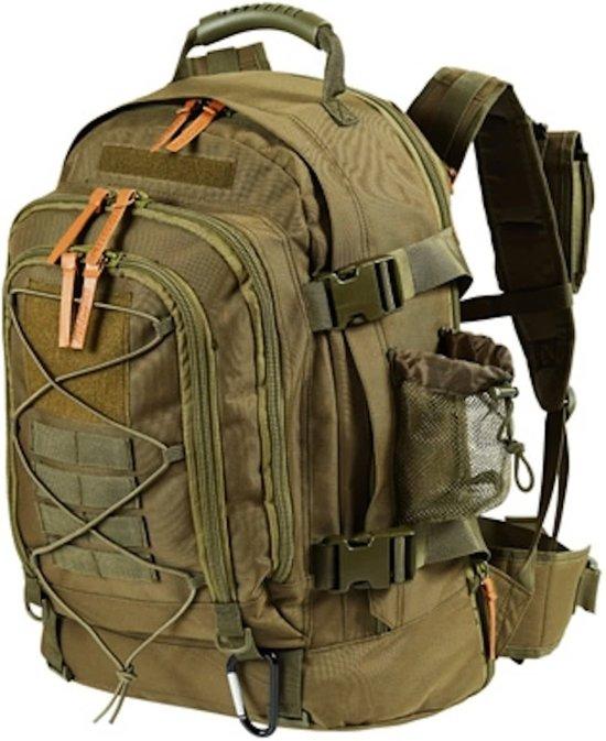 56ebce449fc MacGyver Tactical Backpack 40+20 Ltr - Militaire leger rugzak - Groen
