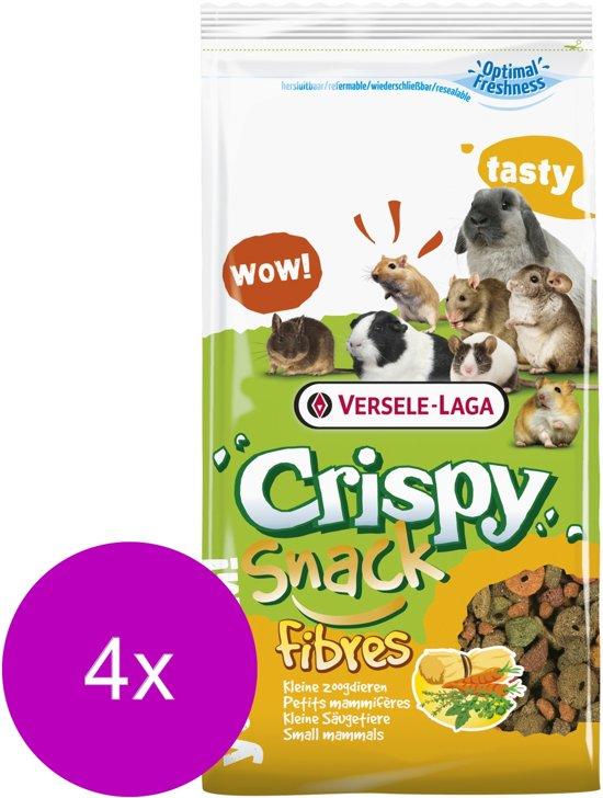 Versele-Laga Crispy Snack Fibres - Konijnenvoer - 4 x 650 g
