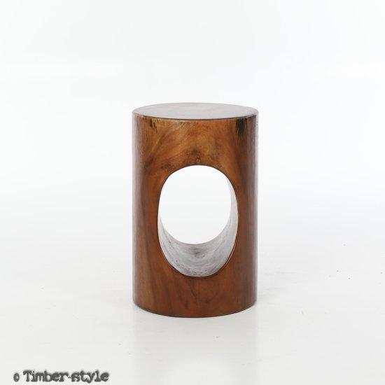 Kruk Suar hout - gelakt - 35 x 35 x 40 cm.