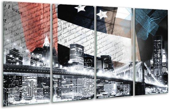 Glas schilderij Steden, Modern | Grijs, Zwart, Wit | 160x80cm 4Luik | Foto print op Glas |  F007357