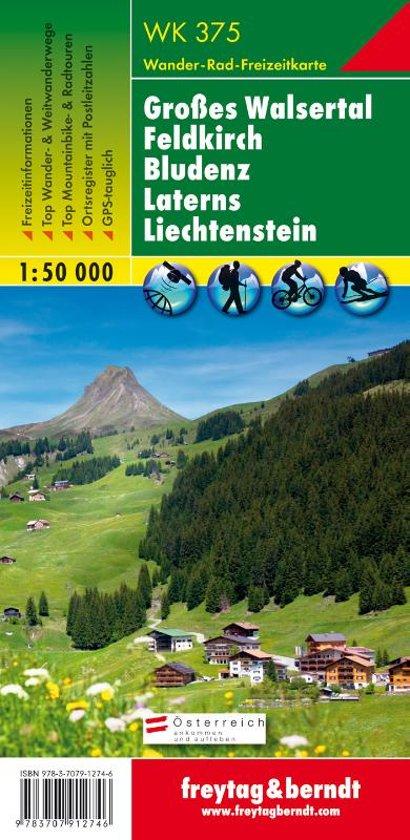 Wandelkaart Liechtenstein