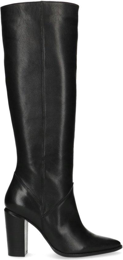 Sacha - Dames - Zwarte hoge laarzen met hak - Maat 38