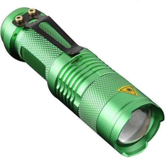Cree mini zaklamp Q5 LED - groen
