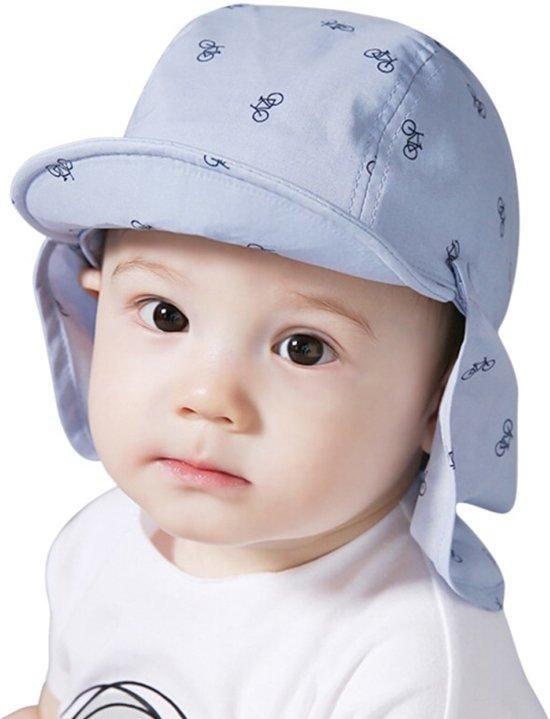 d54d69d8d762ea Baby Zonnepetje Fietsjes – Baby Cap – Blauw