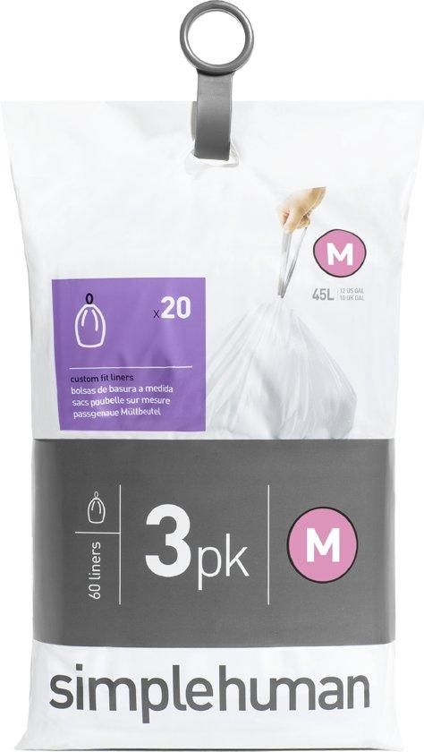 Simplehuman Afvalzak Code M Pocket Liners 45 Liter (60 stuks)