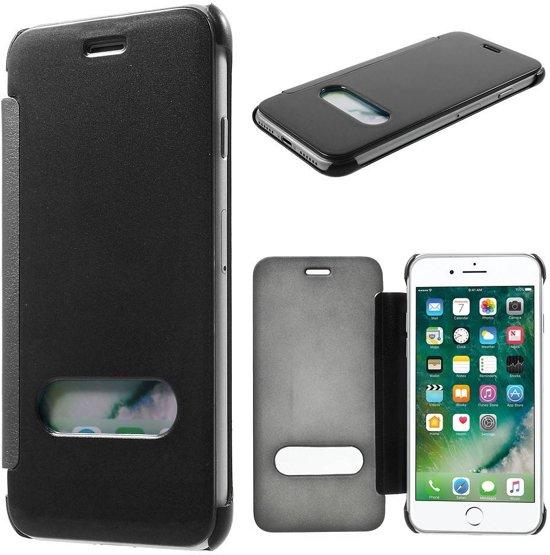GSMWise - Apple iPhone 7 - Doorzichtige Window View Case - Zwart in Wadenoijen