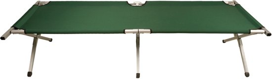 Abbey Camp Campingbed Luxe - XL - Donkergroen