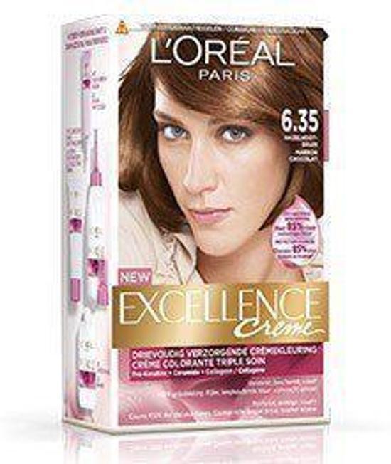 L'Oréal Paris Excellence 6.35 Donker Goud Mahnieblond 3stuks - Haarverf