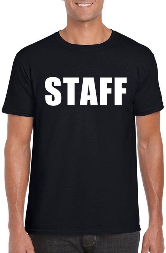 Staff tekst t-shirt zwart heren XL