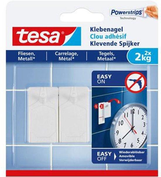 Tesa klevende spijker voor metaal en tegels 2x2kg