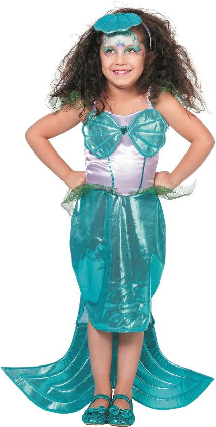 Zeemeermin jurk met diadeem voor kind
