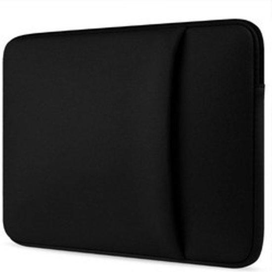 Asus VivoBook hoes - Neopreen Laptop sleeve met extra vak - 15.6 inch - Zwart