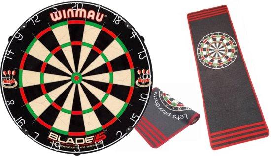 Winmau Blade 5 - dartbord - inclusief Antraciet - dartmat