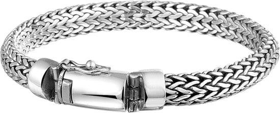 The Jewelry Collection For Men Armband Vossestaart 8 mm 21 cm - Zilver Geoxideerd