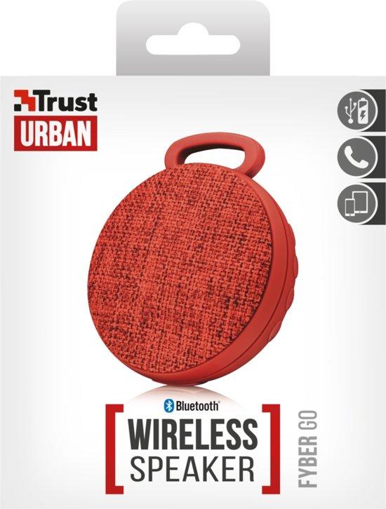 Trust Fyber Go Bluetooth Wireless Speaker Rood