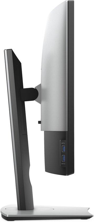 DELL Professional P3418HW LED display 86,4 cm (34'') QXGA Gebogen Mat Zwart, Grijs