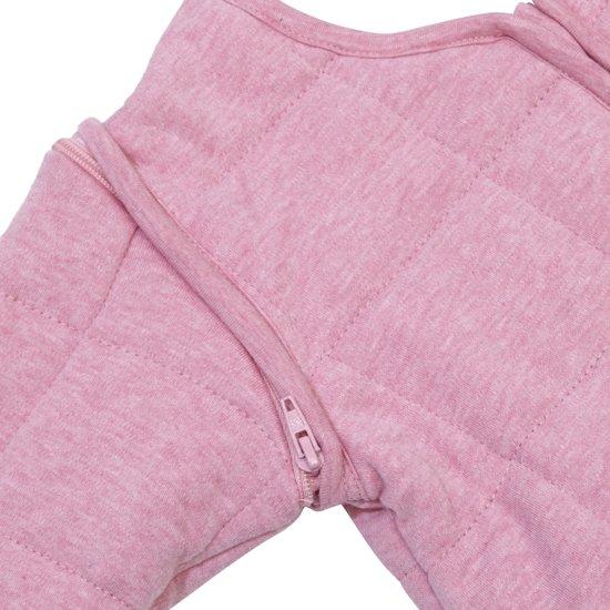Jollein - Babyslaapzak 4-seizoenen - 90 cm -  met afritsbare mouw -  Roze Melee