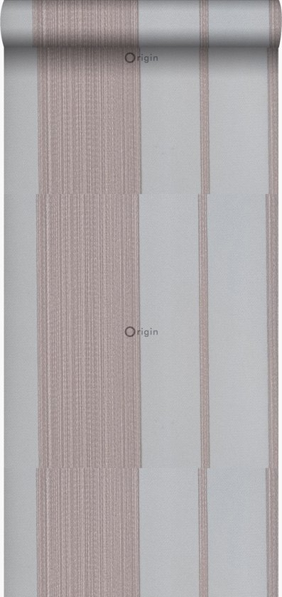 vinyl behang strepen grijs en zilver - 306709 van ESTAhome.nl