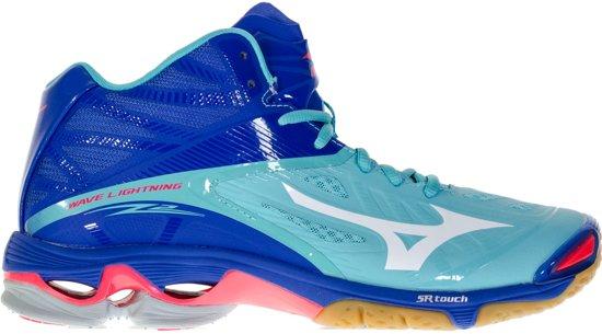 Julkaisupäivä: uusin muotoilu tavata Mizuno Wave Lightning Z2 Mid Sportschoenen - Maat 46 - Vrouwen -  blauw/wit/roze