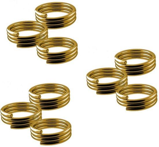 Veerringetjes voor shafts Goud - 3 Sets (9 stuks) Dragon darts