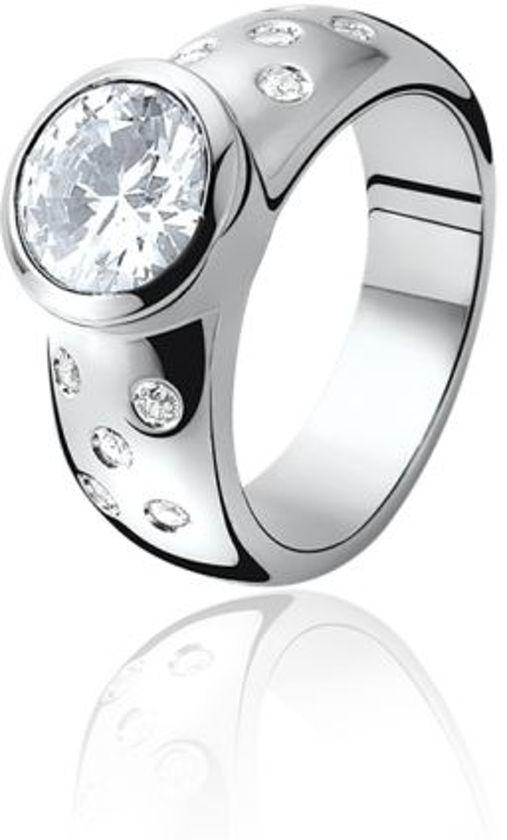 Zinzi - Zilveren Ring - Zirkonia - Maat 54 (ZIR575-54)