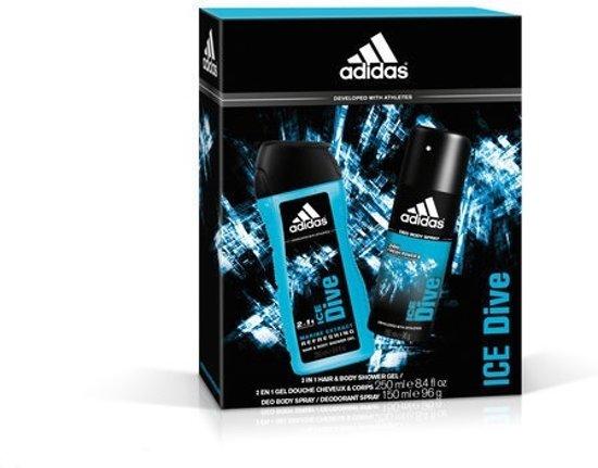 adidas Ice Dive - Bodyspray 150 ml + Showergel 250 ml - Geurengeschenkset
