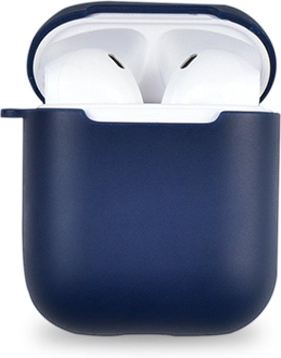 iShell Series TPU Beschermhoes Geschikt voor Apple AirPods - Donkerblauw
