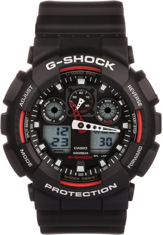 Casio G-Shock GA-100-1A4ER - Horloge - Kunststof - Zwart - Ø 50 mm