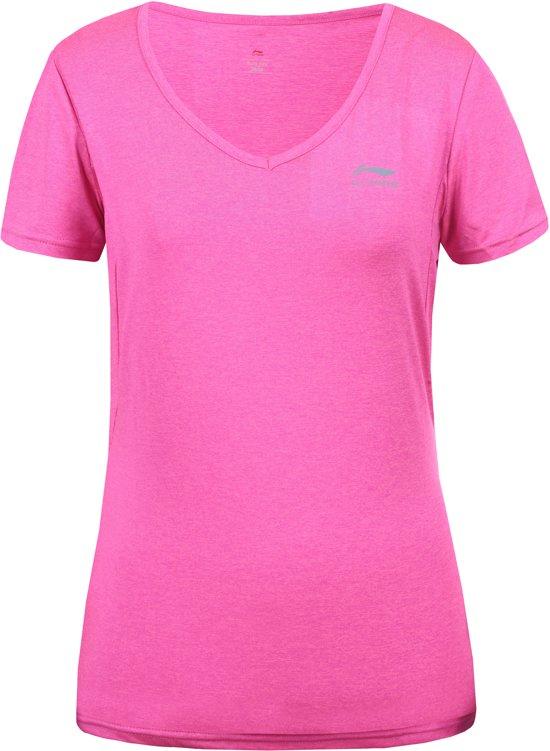 Li-Ning Felice Sportshirt Dames - Hotpink XL