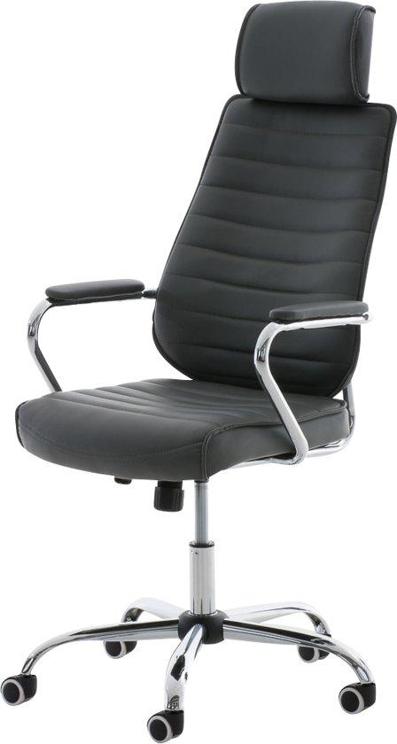 Clp Comfortabele draaibare bureaustoel, managerstoel RAKO - ergonomisch, hoge rugleuning - grijs