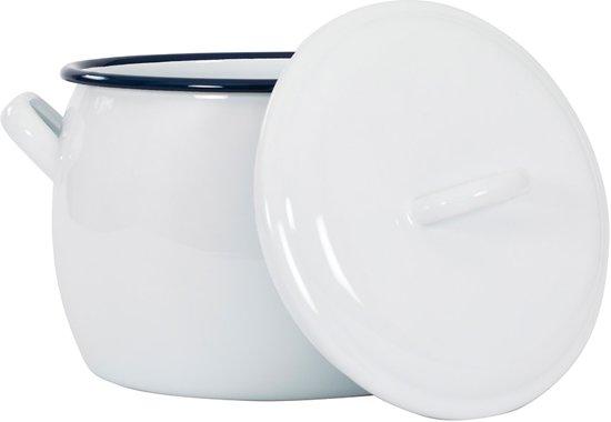 Kookpan met deksel 4 L, Wit - Kockums