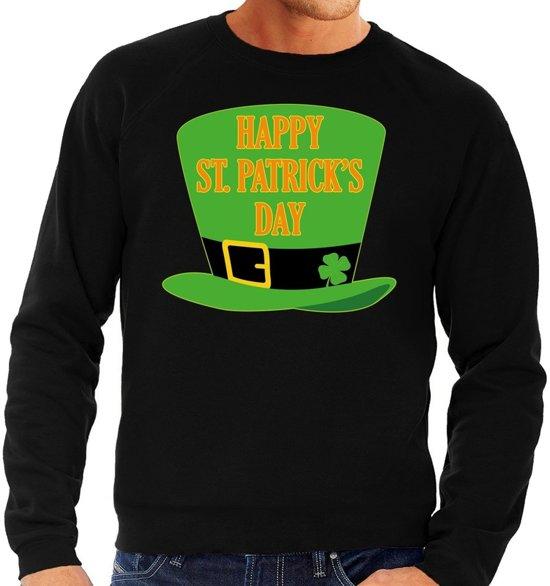 Happy St. Patricksday sweater zwart heren S