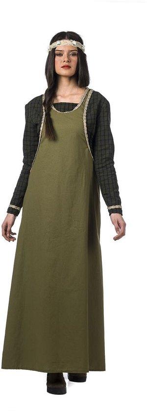 Middeleeuwen & Renaissance Kostuum | Middeleeuwse Vismarkt Vrouw Aagje Kostuum | Maat 46 | Carnaval kostuum | Verkleedkleding