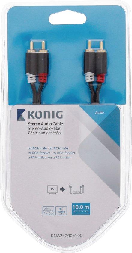 Konig RCA - RCA Kabel 10 Meter