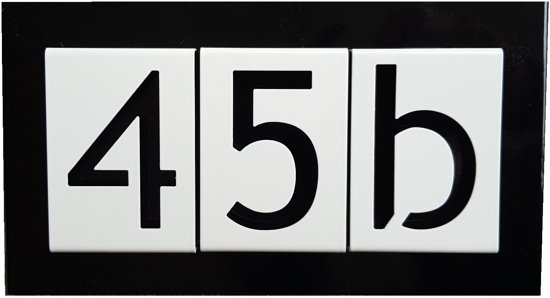 Number2go huisnummer 3 cijfers modern zelf-te-assembleren