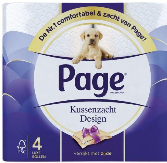 Edet Toiletpapier 32 Rollen.Page Kussenzacht Design 4 Rol