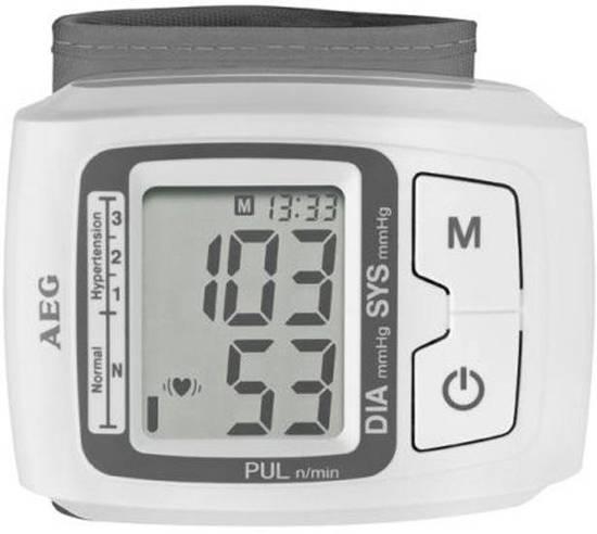 Digitale bloeddrukmeter - Hartslagmeter - bloeddruk en hartslag meten - Aflezen op LCD scherm - AEG