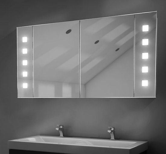 bol.com | Badkamer spiegelkast met spiegelverwarming en LED ...