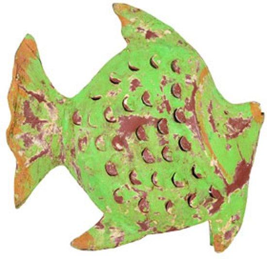 Sfeerlicht staande vis van gerecycled metaal